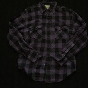 Tops - 90s flannel purple vintage flannel small grunge uo
